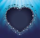 Lavagna cuore goccia acqua blu — Vettoriale Stock