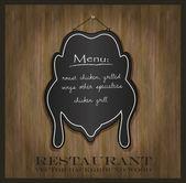 Vector blackboard chicken restaurant menu card — Stock Vector