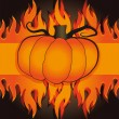 Royalty-Free Stock Vector Image: Halloween pumpkin fire
