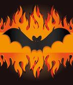 万圣节蝙蝠火 — 图库矢量图片