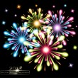 Fireworks splash colors — Stock Vector
