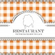 Chicken blackboard lace menu restaurant ,cloth pattern vector — Stock Vector