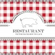 Pig blackboard lace menu restaurant ,cloth pattern vector — Stock Vector #28132815