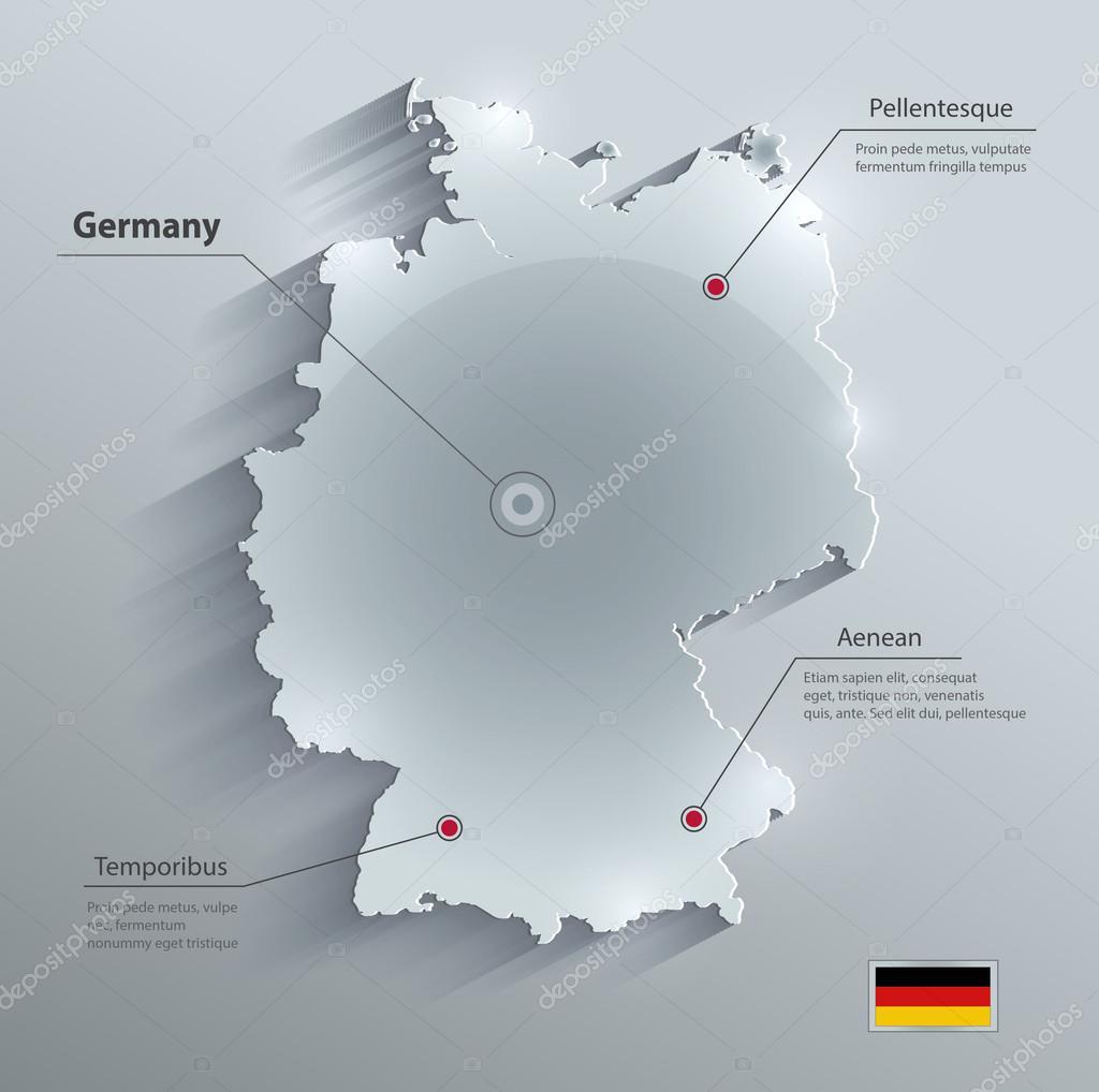 德国地图玻璃卡纸 3d 矢量