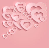 Heart love valentine paper 3D pink raster blank — Stock Photo