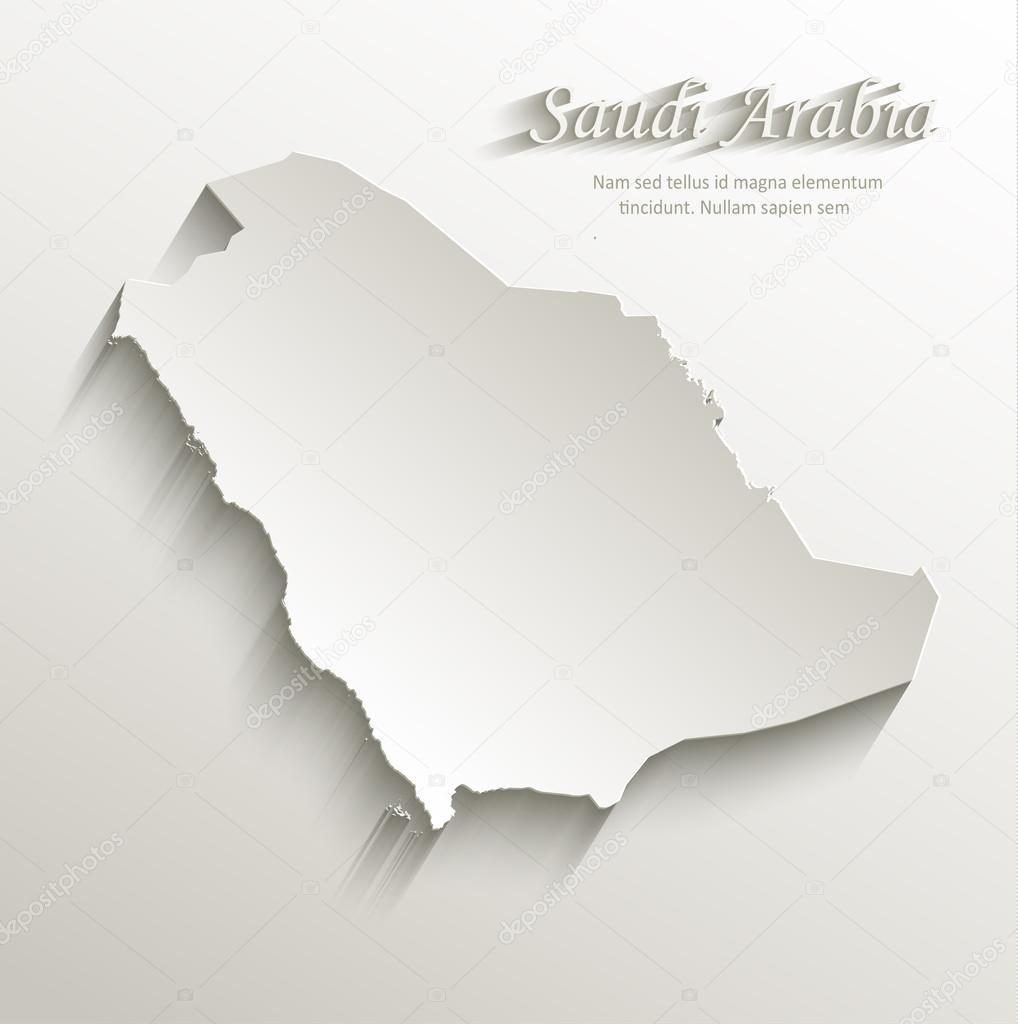 Saudi Arabia Map 3d Saudi Arabia Map Card Paper 3d