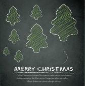 Merry christmas tree schoolbord schoolbord groene vector — Stockvector