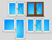 Set of window templates — Stock Vector