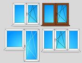 Set of window templates — Stock Vector