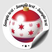 Christmas bauble sticker — Stock Vector