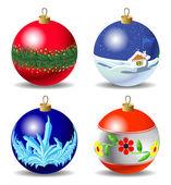 圣诞球一套 — 图库矢量图片