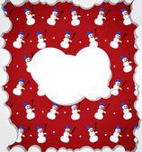 Snowman frame — Stock Vector