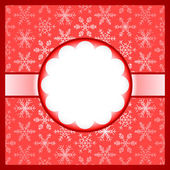 Red frame with snowflakes — Stock Vector