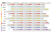 линейный календарь 2013 — Cтоковый вектор
