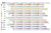 連続状のカレンダー 2013 — ストックベクタ