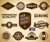 Vintage labels. Collection 15 — Stock Vector