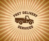 Delivery vintage label — Stock Vector