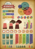 Retro infographics with pipes — 图库矢量图片