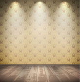Abandoned pale room — Stock Vector