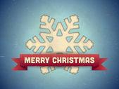 Kerstkaart met sneeuwvlok — Stockvector