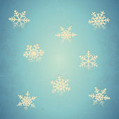 Aged card with snowflakes — Stock Vector