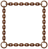 Rusty chain frame — Stock Vector