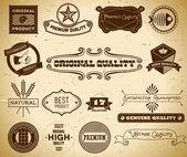 Etiquetas vintage. coleção 17 — Vetor de Stock