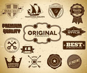 Vintage labels. Collection 18 — Stock Vector