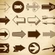 Set of vintage arrows - Image vectorielle