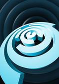 Abstract rotating circles with cut sectors — Stock Vector