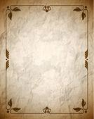 Buruşuk kahverengi kare ile süsleme — Stok Vektör
