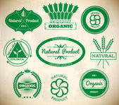 Set of vintage eco labels. Collection 1 — Vettoriale Stock