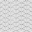 Black and white waves seamless pattern — Stock Vector