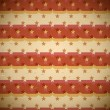 Seamless red pattern with shifted stars - Stok Vektör
