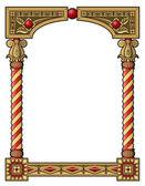 Traditional column frame — Stock Vector