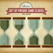 Set of vintage sand clocks — Vector de stock