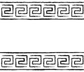 Black and white greek seamless pattern — Stock Vector