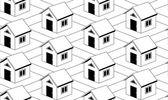 монохромный фон с домами — Cтоковый вектор