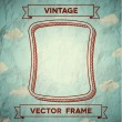 Stock Vector: Vintage smooth frame with clouds