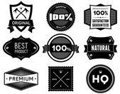 Vintage labels. Bitmap collection 5 — Stock Photo