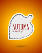 Cut out autumn leaf frame — Stock Vector