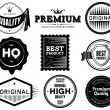 Vintage labels. Bitmap collection 6 — Stock Photo