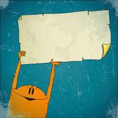 Istota wyświetla puste rozdarty papier — Wektor stockowy