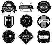 Vintage labels. Bitmap collection 7 — Stock Photo