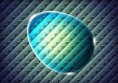 Abstrakte grünem glas-ei — Stockvektor
