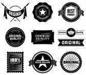 Vintage etiketleri. bit eşlem koleksiyon 8 — Stok fotoğraf