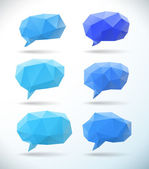 Set of polygonal geometric speech bubble — Stock Vector