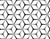 Rough drawing styled futuristic hexagonal grid — Stock Vector