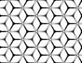 Grov ritning stil futuristiska sexkantiga rutnät — Stockvektor