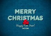 Ročník veselé vánoční přání se škrábanci — Stock vektor